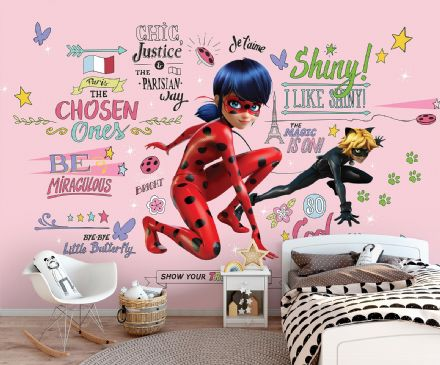 Miraculous paper photo wallpaper Ladybug & Cat Noir